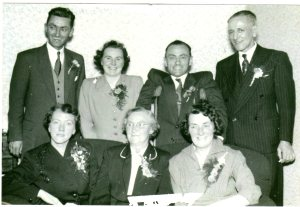 My mother's side of the family at my parent's wedding 10 October 1956