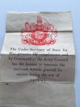 Under secretary note